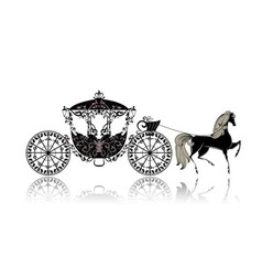 Carriage horse vector