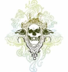 Heraldic skulls vector