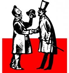 Gentleman meeting vector
