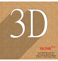 3d icon symbol flat modern web design with long vector