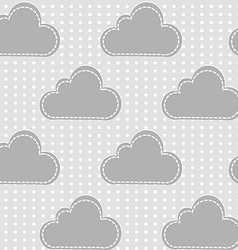 Clouds with snow vector