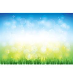 Blue sky grass vector