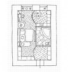 Interior design apartments vector