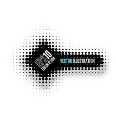 Halftone banner vector