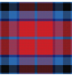 Seamless red and blue scottish tartan vector