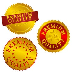 Premium quality seals vector