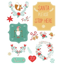 Cute christmas clipart vector