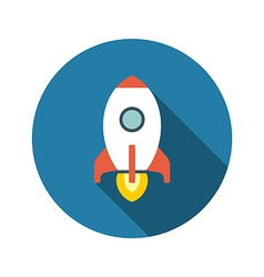 Flat startup rocket beginning fly up start vector