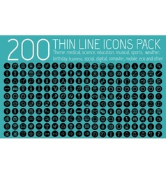 Collection thin lines pictogram icon set concept vector