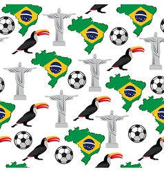 Soccer seamless pattern brazil summer world game vector