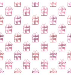 Seamless gift pattern on white background vector