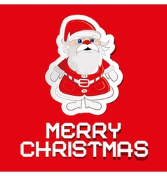 Santa claus on red background with paper merry vector
