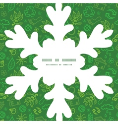 Ecology symbols christmas snowflake silhouette vector