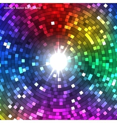 Abstract colorful disco lights tunnel vector