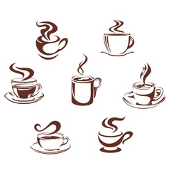 Coffee and tea vector