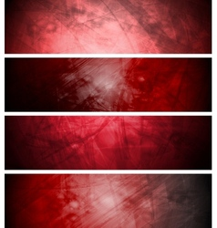 Red textural backgrounds set vector
