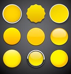 Round yellow icons vector