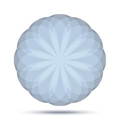 Circular blue - gray logo emblem design element vector