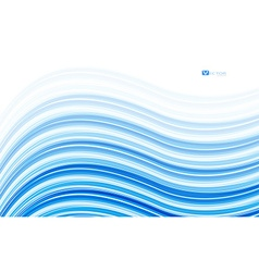 Abstract blue waves - data stream concept vector