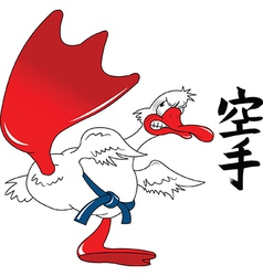 Karate goose cartoon vector