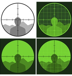 Gun crosshair sight vector