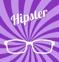 Hipster glasses art vector