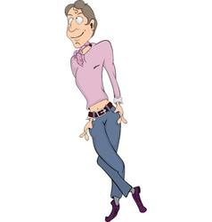 The young man metro sexual cartoon vector