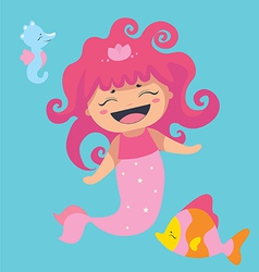 Lovely sea characters vector