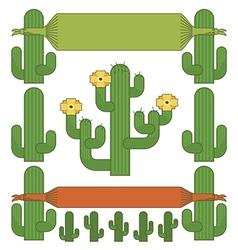 Cactus ornaments vector