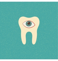Tooth retro poster vector
