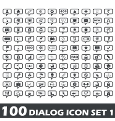 Dialog icon set 1 vector