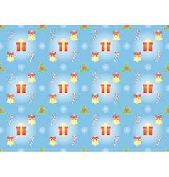 Pattern with symbols of christmas vector