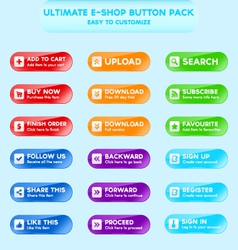 Collection of web buttons for e-shops vector