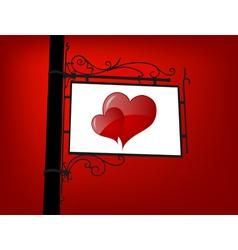 Retro love signboard vector