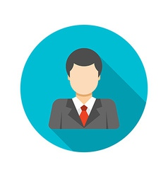 Flat busness man user profile avatar in suit vector