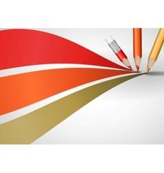 Colour pencils drawing lines vector