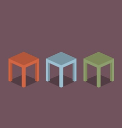 Chairs flat design vector