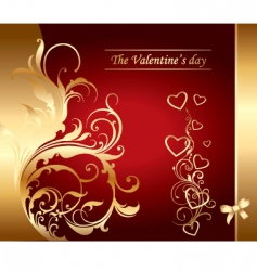 Valentine's day card vector