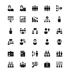 Human resource icons 2 vector