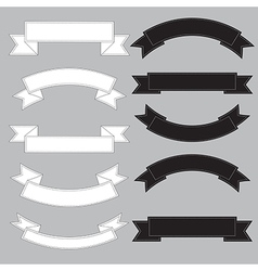 Old ribbon banner black and white eps10 vector