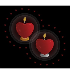 Heart shaped candle vector