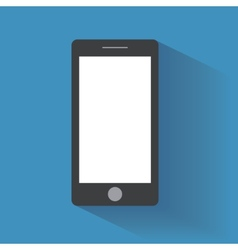 Smartphone with blank screen vector
