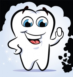 Tooth stop dirt vector
