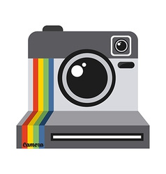 Photographic icon vector