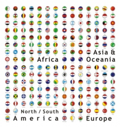 World flags web buttons vector