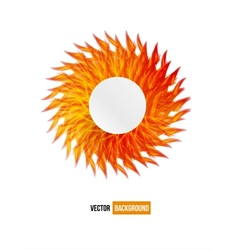 Circle orange flower card abstract vector