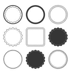 Set of 9 design summer elements frames borders vector