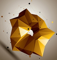 Asymmetric 3d abstract bright object colorful vector