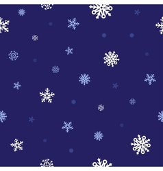 Snow blue pattern vector