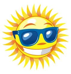 3d smiling sun vector